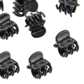 IMC 10 Small Plastic Black Hair Clips Claws Clamps HOT