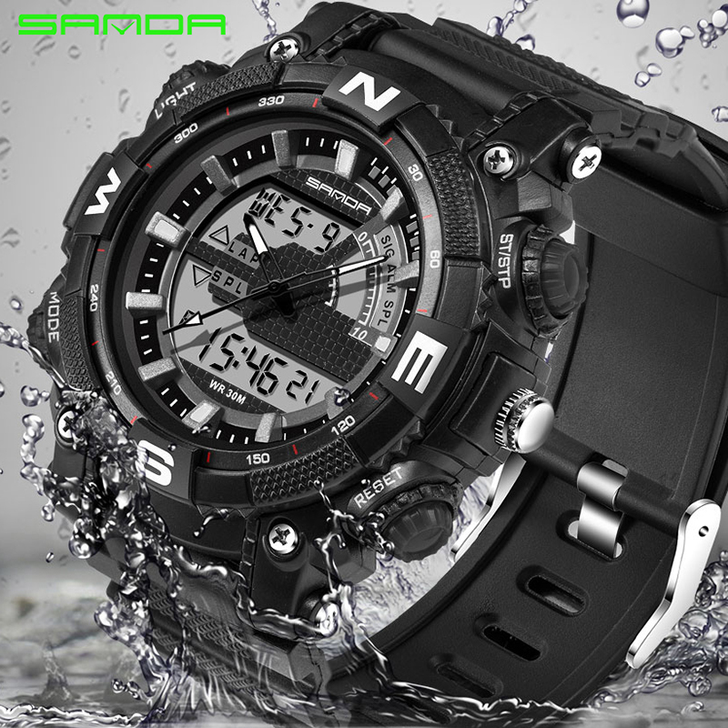 2017 New SANDA Fashion Sport Watch Men Waterproof Dive Mens Watches Top Brand Luxury Clock For Men relogio masculino 743 2017 new top fashion time limited relogio masculino mans watches sale sport watch blacl waterproof case quartz man wristwatches