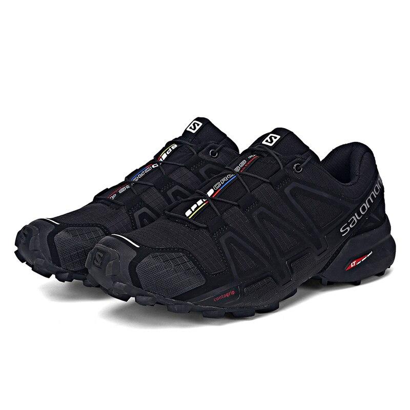 4f50d7002486 Salomon Men s Speedcross 4 CS Running Trail Shoes   Spare Quicklace Kit  Bundle Trail Jogging Shoes Big Size 40-46