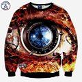 Mr.1991INC Горячие продажа Мода кофты 3d печати техника часы мужчины/женские творческие большие глаза вскользь толстовки симпатичный пуловер