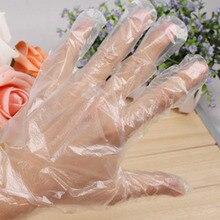 100 шт кухонные одноразовые PE перчатки рукавицы для сада дома ресторана барбекю Посуда мыть TB
