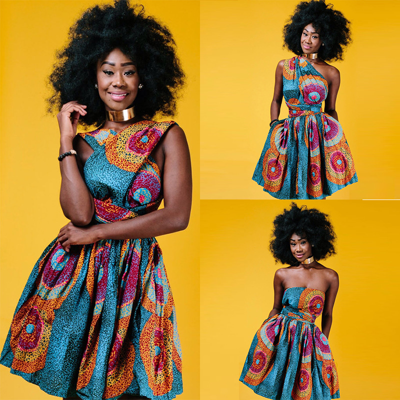 2018 African Dresses Design Fashion Digital Printing african women clothing