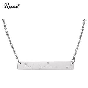 Новое поступление простые 12 знаков Зодиака Подвески ожерелье из нержавеющей стали ювелирные изделия Овен Рак ожерелье для женщин