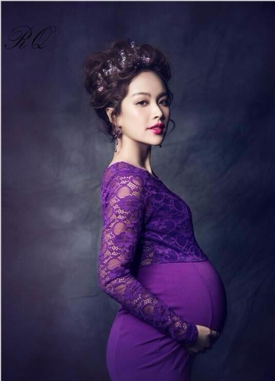 RQ Мода Высокое качество модные Средства ухода за кожей для будущих мам платье Подставки для фотографий для беременных Для женщин длинное пл...