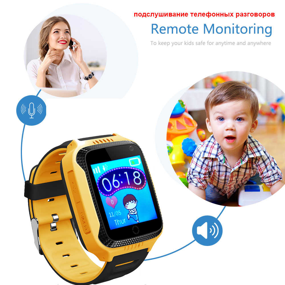 GPS tracker smart watch Camera Flashlight Baby Watch SOS Call Location Device Tracker for Kids watch Q528 Y21 touch screen