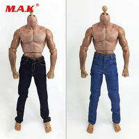 1 6 Scale Clothes Man Jean Trousers Dark Light Blue For 12 Inches Coomodel Action Figure