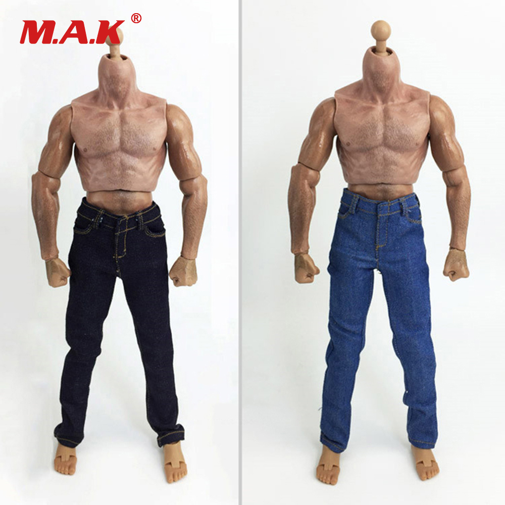 1/6 Scale Clothes Man Jean Trousers Dark/Light Blue for 12 inches Coomodel Action Figure Accessories
