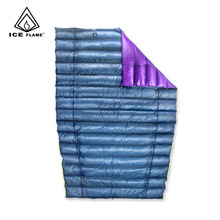 Ice Flame UL 7D 90% White Goose Down Sleeping Bag Blanket Sleeping Quilt Underquilt For Hammock Backpacking Camping Hiking