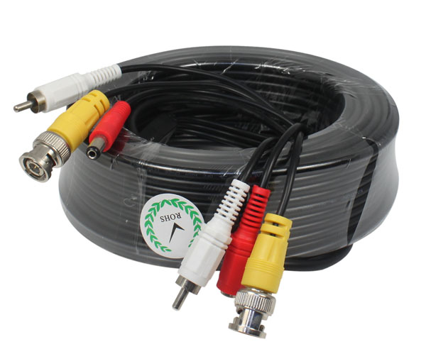 New CCTV Camera Accessories BNC Video RCA audio DC Power Siamese Cable for Surveillance DVR Kit Length 10m 32ft bnc dc connector video power siamese cable 4pcs lot for cctv camera dvr