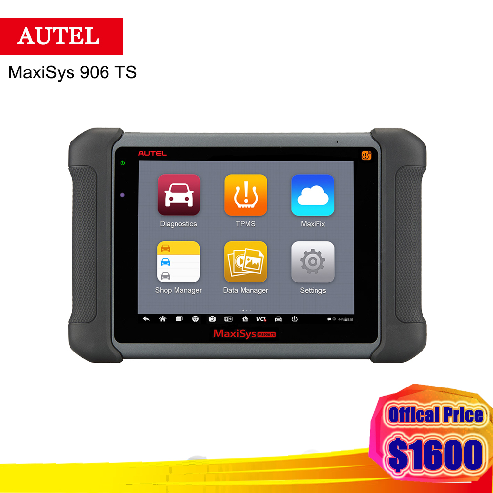 цена на 2018 Newest Autel Maxisys 906 TS With Full System ECU Coding / TPMS Solution Auto Car Diagnostic Tools One Years free Update