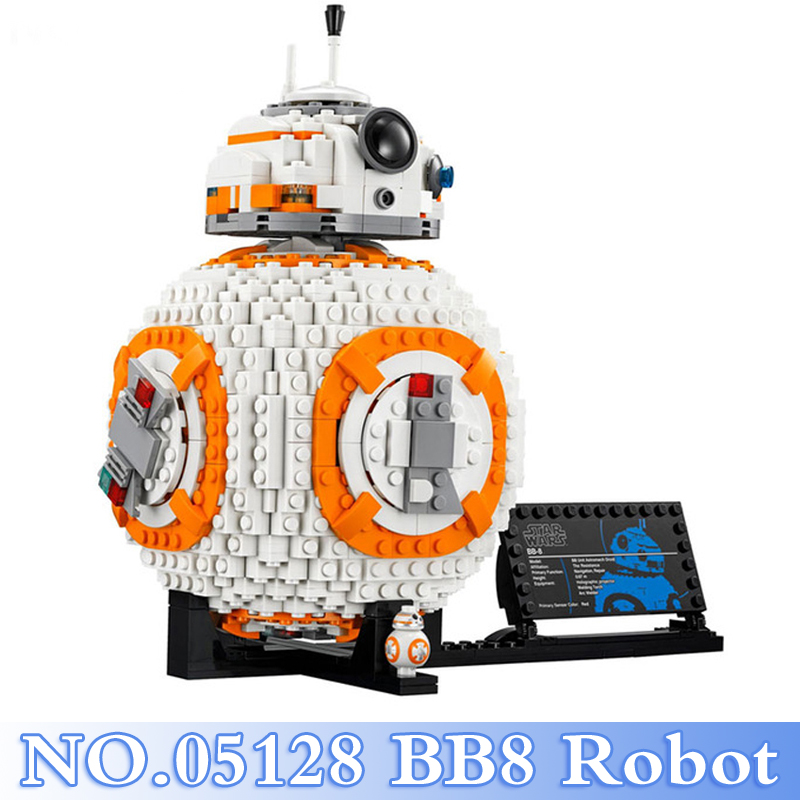 Lepin 05128 Star War 1238Pcs The BB8 Robot Figures Building Blocks Bricks Sets Kids Toy For Children Model Kits Compatible 75187 a toy a dream lepin 15008 2462pcs city street creator green grocer model building kits blocks bricks compatible 10185