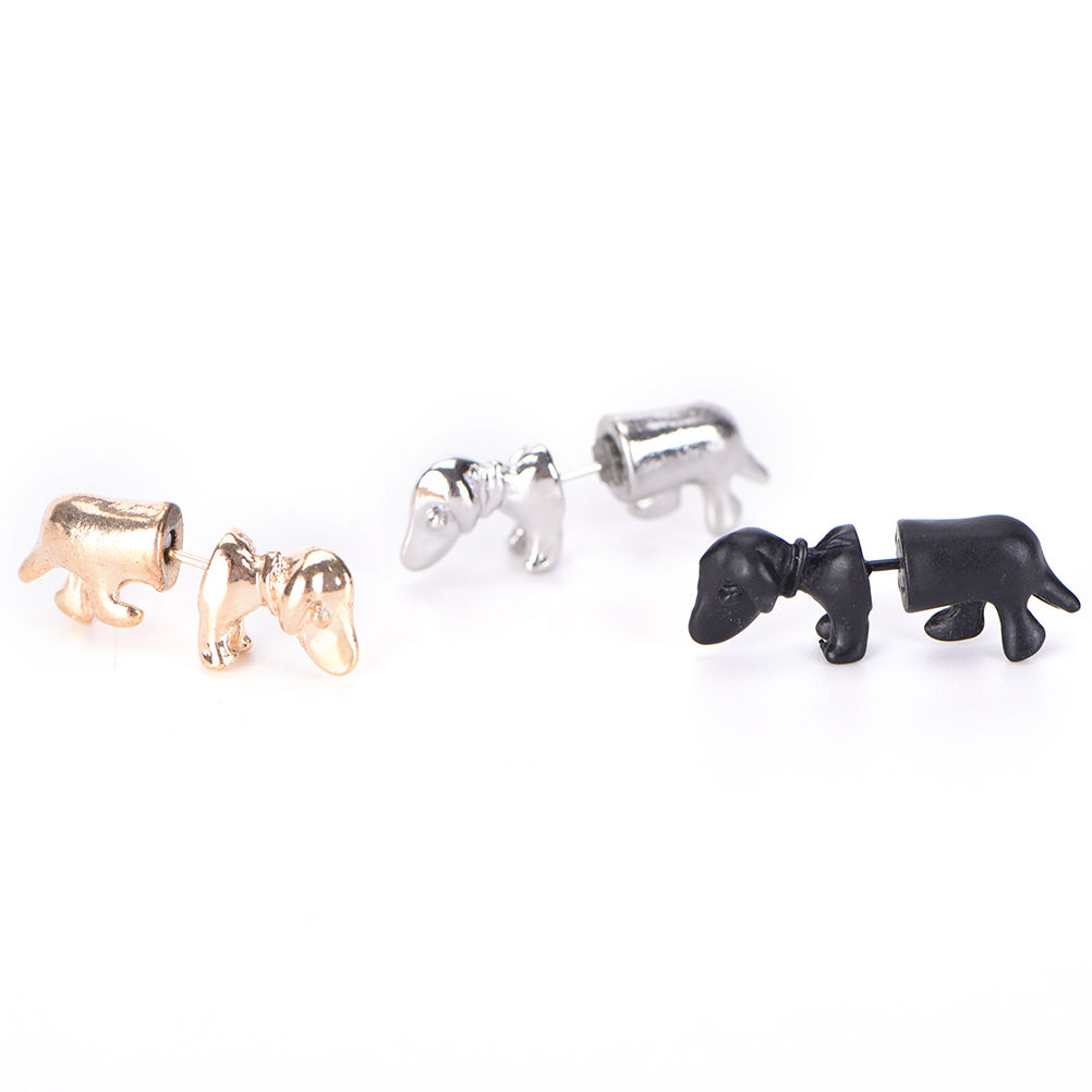 3D Stereoscopic Dachshund/Dog Stud Earrings Punk Rock Trendy Cool Impalement Men/Women Ear Stud Tunnel Party Earrings