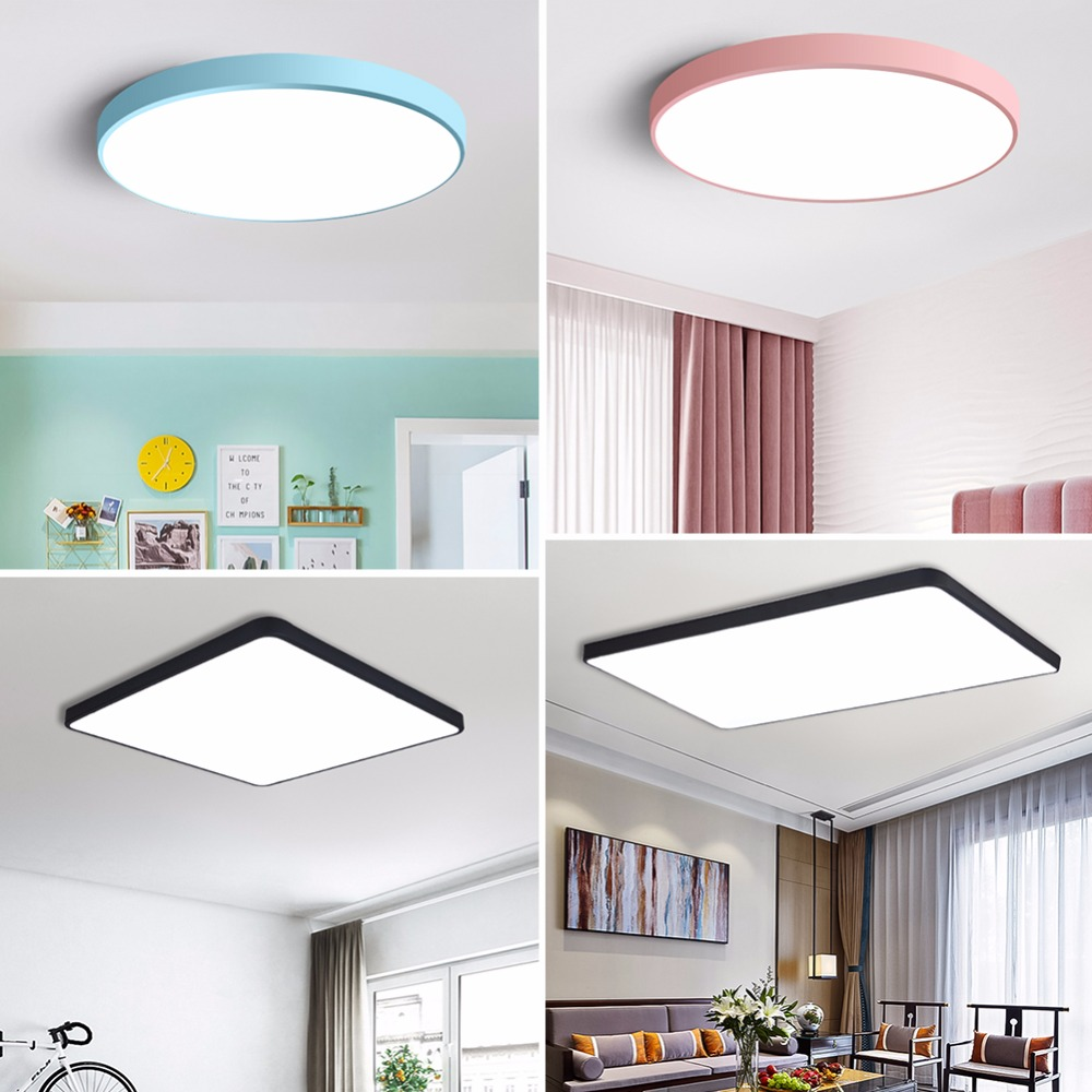 Led Ceiling Light Modern Lamp Living Room Lighting Fixture Bedroom Kitchen Surface Mount Flush Panel Remote Control Ceiling Lights & Fans Ceiling Lights