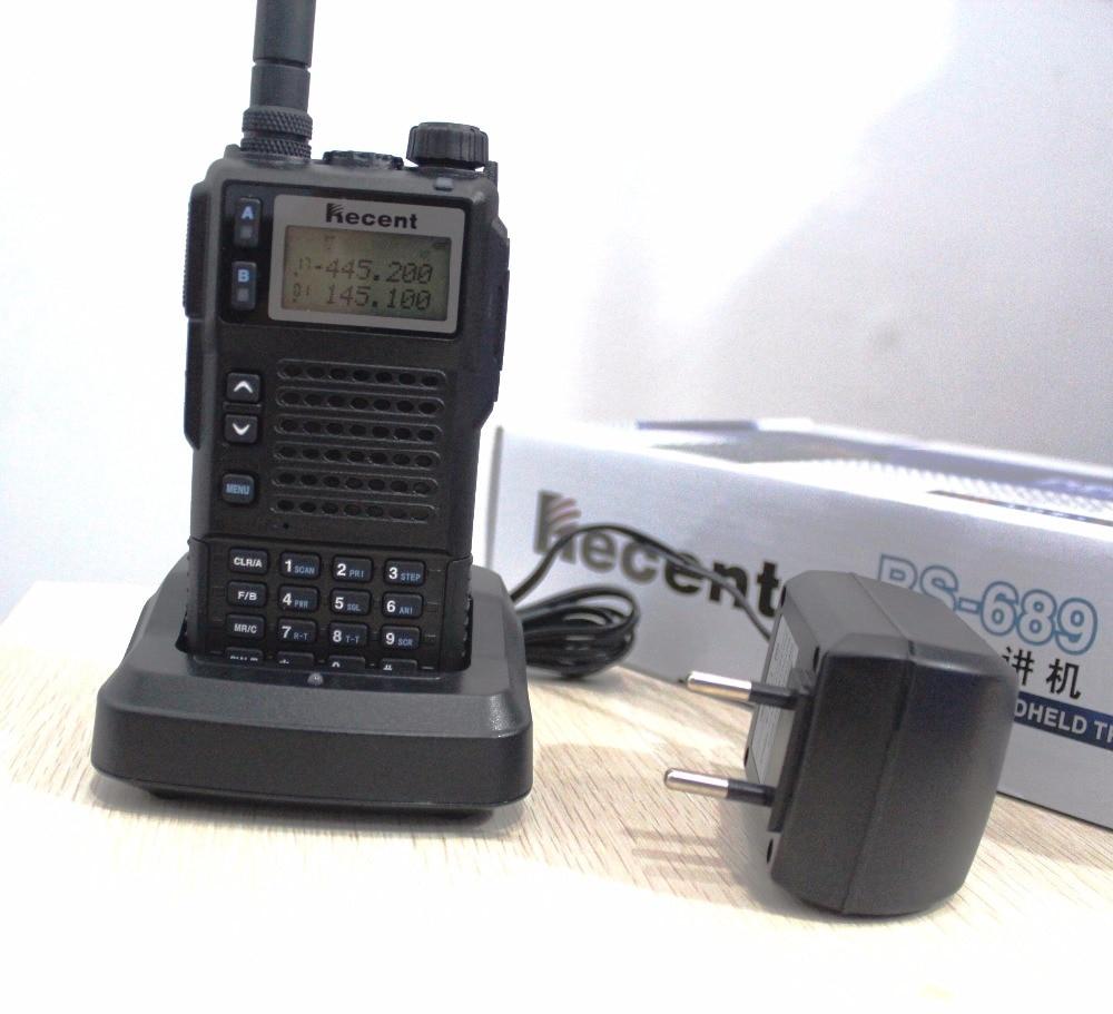 Potente 10w RS689 tri banda a pie UHF VHF frecuencia portátil radio teléfono móvil transmisor receptor de interphone de largo alcance