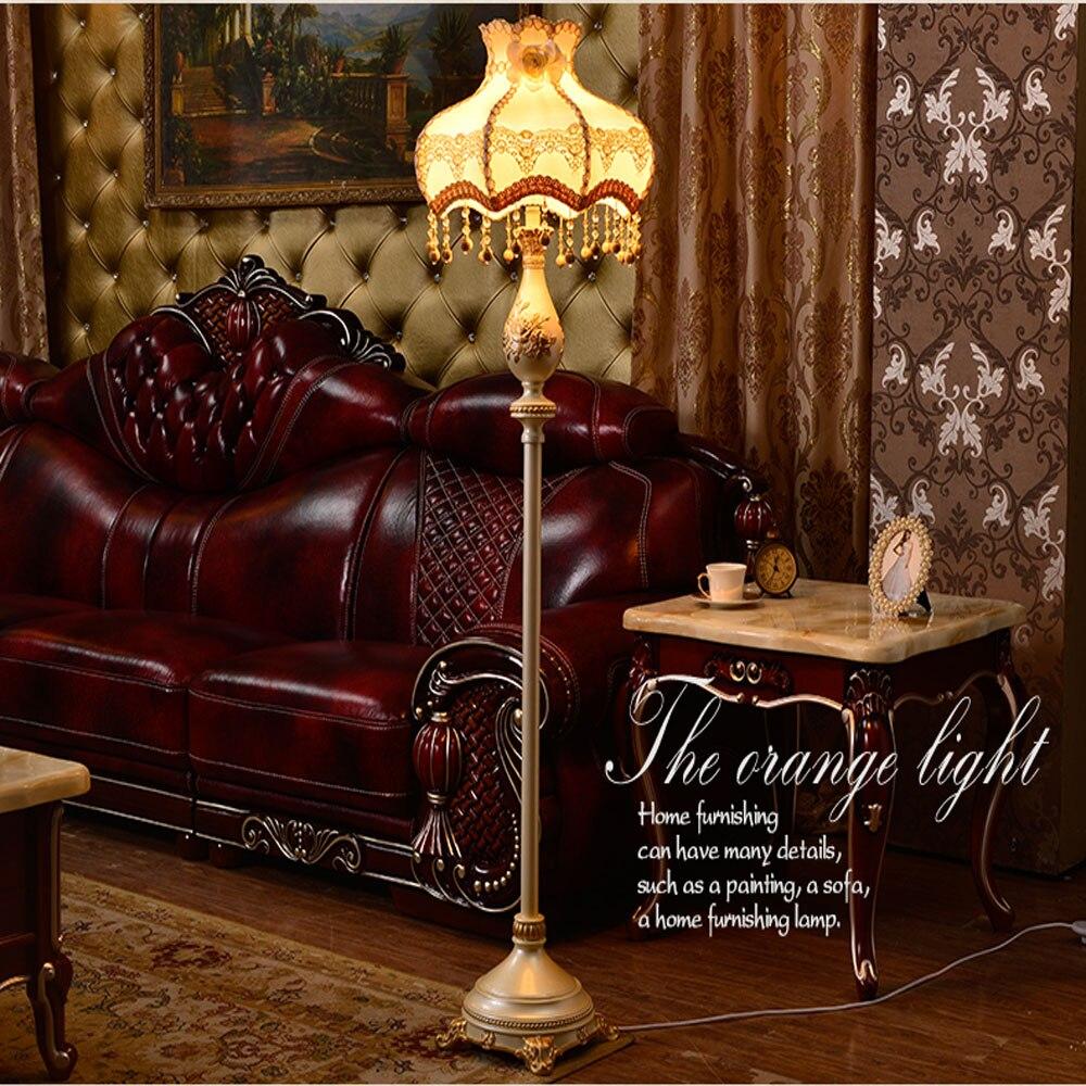 European Style Floor Lamp Living Room E27 Led Modern Lighting Lamps 110V 220V