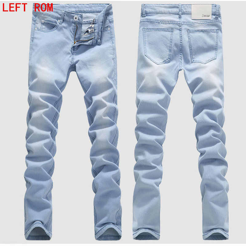 Man Jeans Male Fashion Designer Brand Elastic Straight Jeans New Men Mid Pants Slim Skinny Men Jeans Stretch Jeans For Man Men Jeans Stretch Brand Men Jeansdesigner Mens Jeans Aliexpress