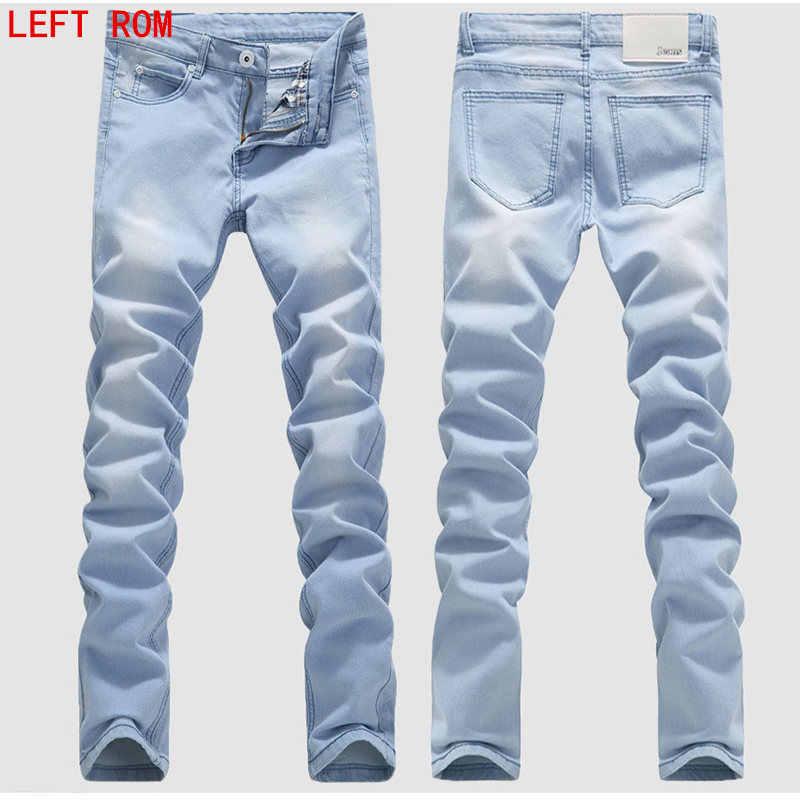 Man Jeans Male Fashion Designer Brand Elastic Straight Jeans New Men Mid Pants Slim Skinny Men Jeans Stretch Jeans For Man Men Jeans Stretch Brand Men Jeansdesigner Mens Jeans Aliexpress