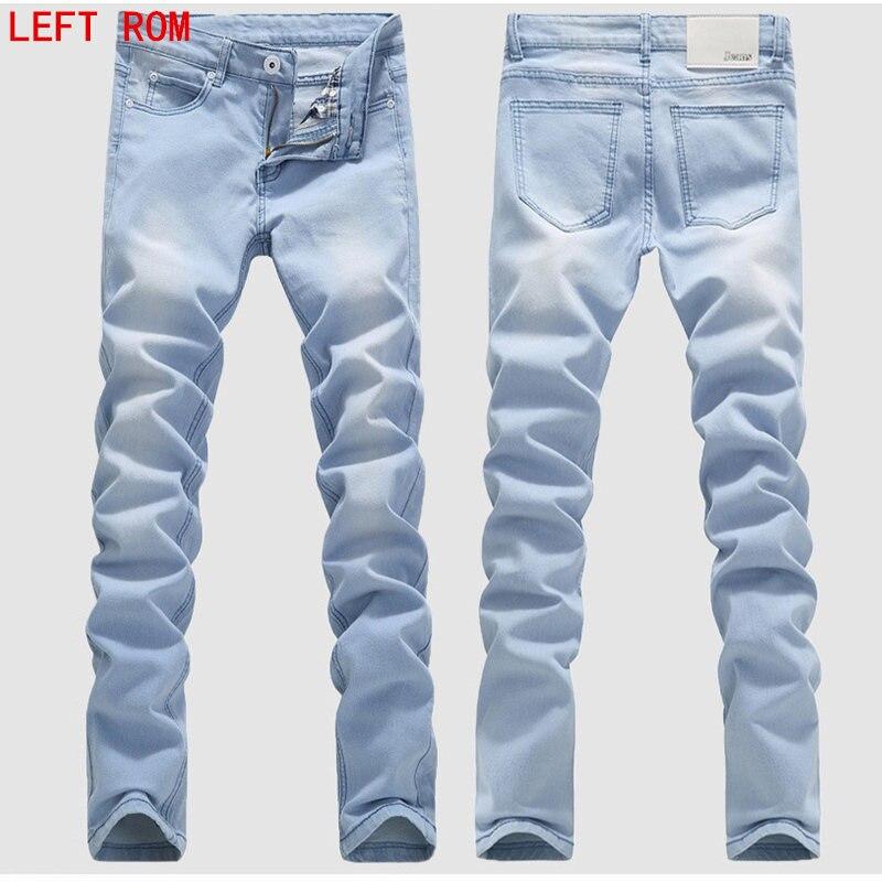 Man Jeans Male Fashion Designer Brand Elastic Straight Jeans
