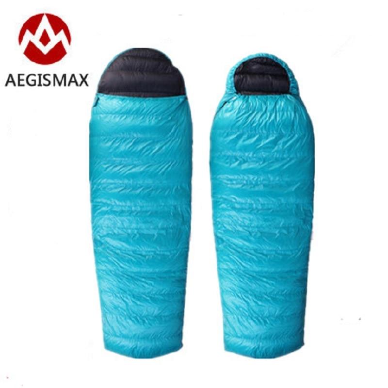 AEGISMAX Outdoor Camping Goose Down Sleeping Bag Naturehike Envelope Splicing Double Sleeping Bags sac de couchage
