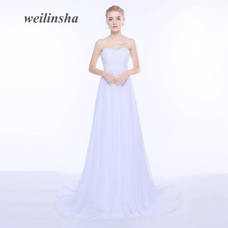 Weilinsha Real Photo Applique Beach Sommar Bröllopsklänningar Sweetheart Zipper Back Gravid Bridal Gown A-Line För Big Women