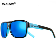 KDEAM UV-Blocking Polarized Sunglasses Men Beach Sport Sun Glasses Polaroid Unisex 60mm Square Sunglass With Free Package