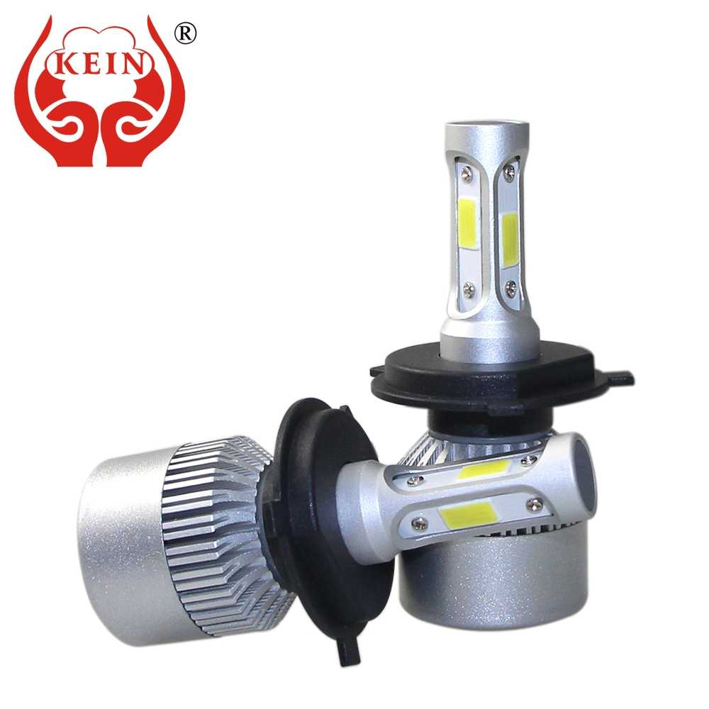KEIN H7 H4 H11 H8 H1 H3 72w 9005 9006 HB3 HB4 H10 car headlight led 8000Lm Auto Headlamp 6500K fog Bulb Vehicle Exterior lights
