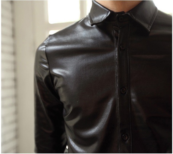 Black Shiny Shirt Artee Shirt