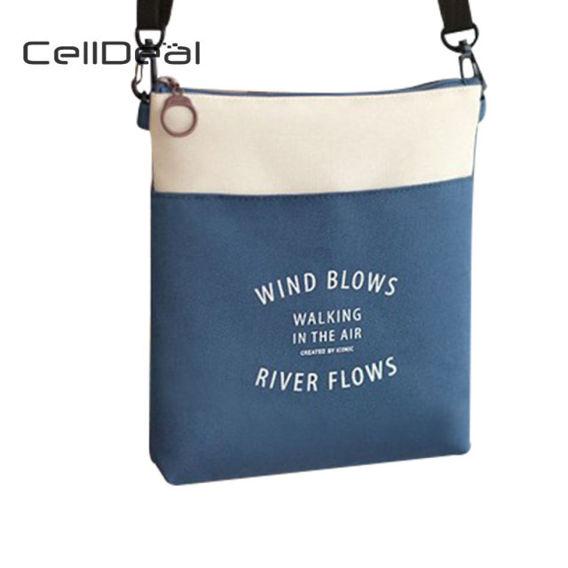 ca3df585ade CellDeal Simple Travel Canvas Purse Fashion Mini Oxford Cloth Small Cloth  High Quality Shoulder Bag Phone Bag Crossbody Wallets