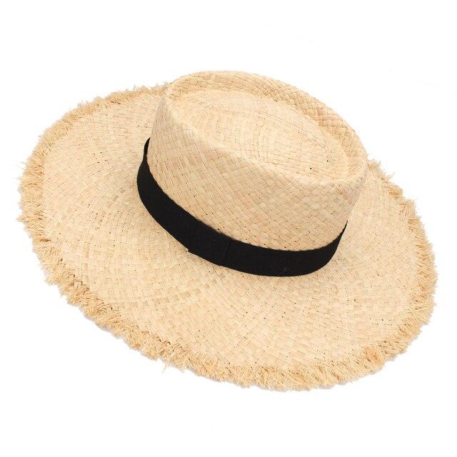 93f773f32bc5 € 16.3  Sombreros de paja de moda para hombres 2017 nuevo sombrero de playa  de verano para mujer sombrero de Sol de ala ancha para Hombre sombrero ...