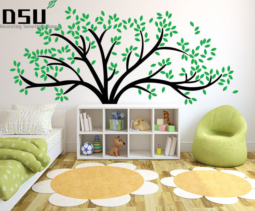 Giant Family Tree Wall Sticker Vinyl Art Home Decals Room Decor Mural Branch Baby Wall Stickers For Kids Room Wallpaper bohemian print wall art sticker