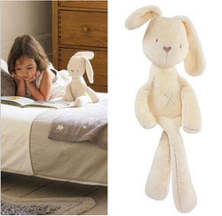54 11cm cute baby kids animal rabbit sleeping comfort doll plush toy free shipping.jpg 250x250