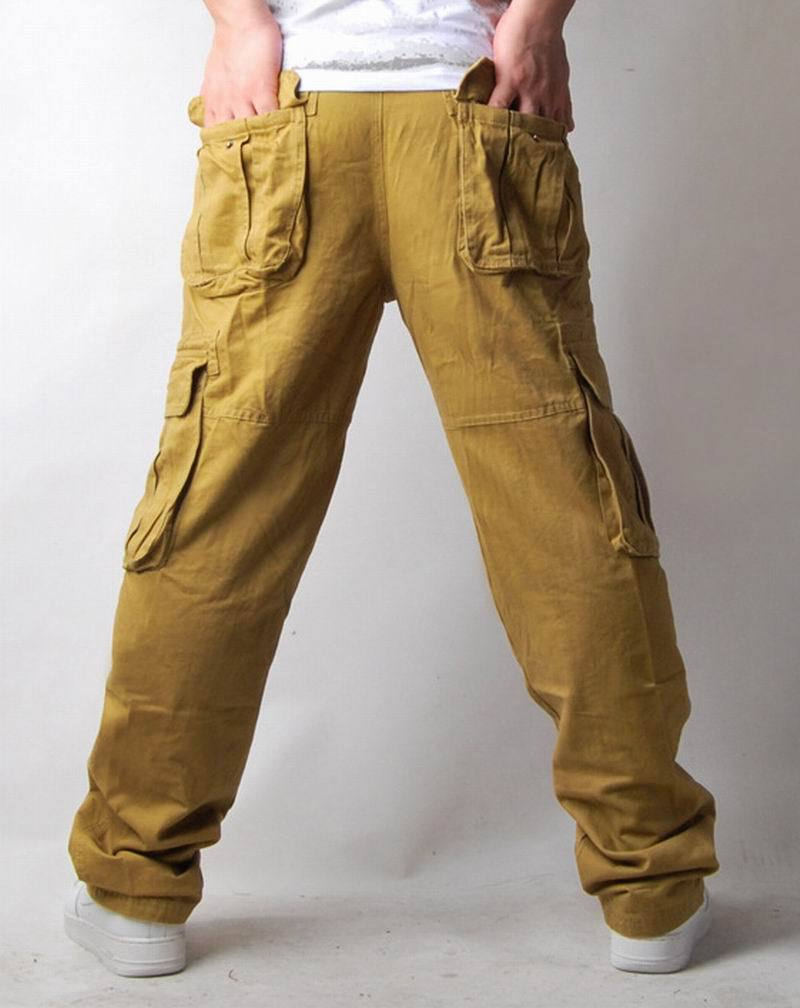 Online Shop AIYA Men's Cargo Pants Casual Relaxed Multi Pockets ...