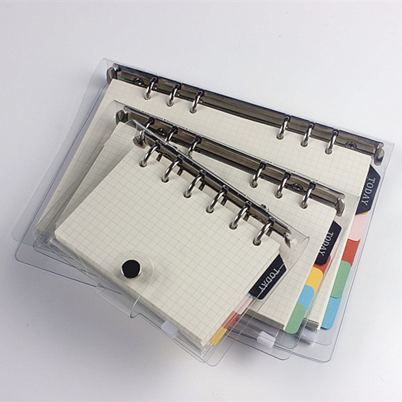 A5 A6 A7 New Coil Spiral Notebook Sets PP PVC Cover Ruler Index Filler Paper for Office and School Supplies Stationery Items Set 2017 new arrives business brief fashion spiral notebook pvc cover a6 a5 b5 line note 80p school office supplies
