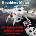 Frete Grátis X16 RC Motor Brushless Helicóptero 2.4G 4CH 6 Eixos FPV Quadcopter RTF Retorno Automático de 360 Graus Da Aleta zangão