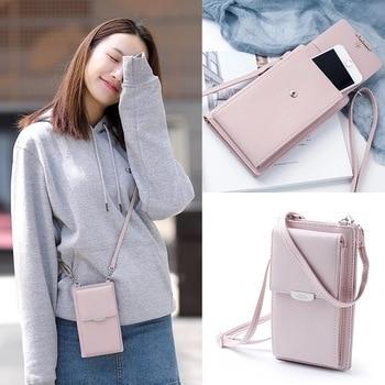 0305dc519d55 JI HAO летняя стильная женская сумка на плечо для телефона PU кожаный  кошелек мини цепь сумки для мобильного телефона сумка через плечо