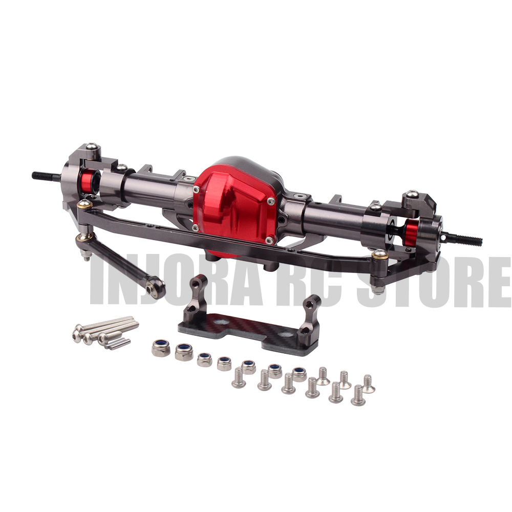 купить Metal CNC Front Rear Axle for 1/10 RC Rock Crawler Axial SCX10 Tamiya CC01 D90 по цене 2855.9 рублей
