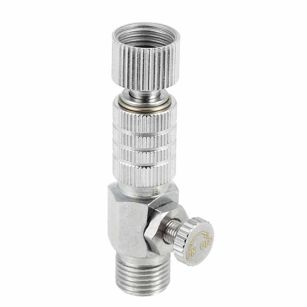 """Airbrushes akcesoria narzędziowe rozpylacz złącze wtyk (rozłącznik) Airbrush regulacja przepływu powietrza zawór sterujący sprzęgło-1/8 """"BSP"""