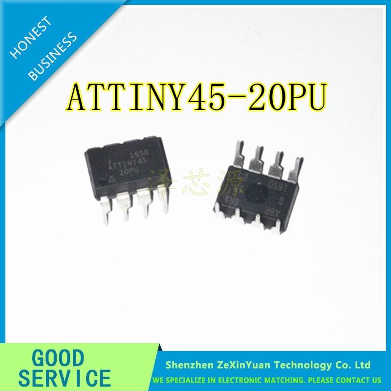 10PCS/LOT ATTINY45-20PU ATTINY45-20 ATTINY45 DIP8