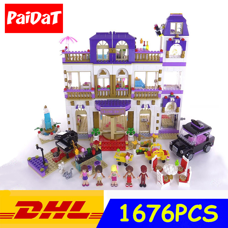 Compatible Legoing 41101 The Heartlake Grand Hotel 1676Pcs Building Blocks Girls Friends Series Bricks toys for girl