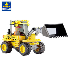117Pcs City Construction Bulldozer Truck Figures Bricks Building Blocks Sets Educational Toys For Children new city engineering team demolition site building block worker figures truck forklift bricks 60076 educational toys for kids