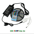 5M 5050 SMD RGBW Led Strip Light DC12V Flexible Tape Lights+40 Keys Led Controller+ 12V 5A Power Supply Adapter