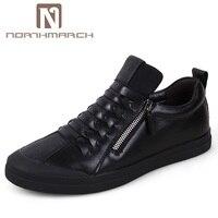 NORTHMARCH/мужские кожаные кроссовки, мужская модная мужская обувь, повседневная удобная обувь на плоской подошве для взрослых, мужская спортив...