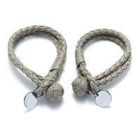 fashion titanium gold love bracelet round card woven spherical male and female lovers H bracelets hand rope silver bracelet men