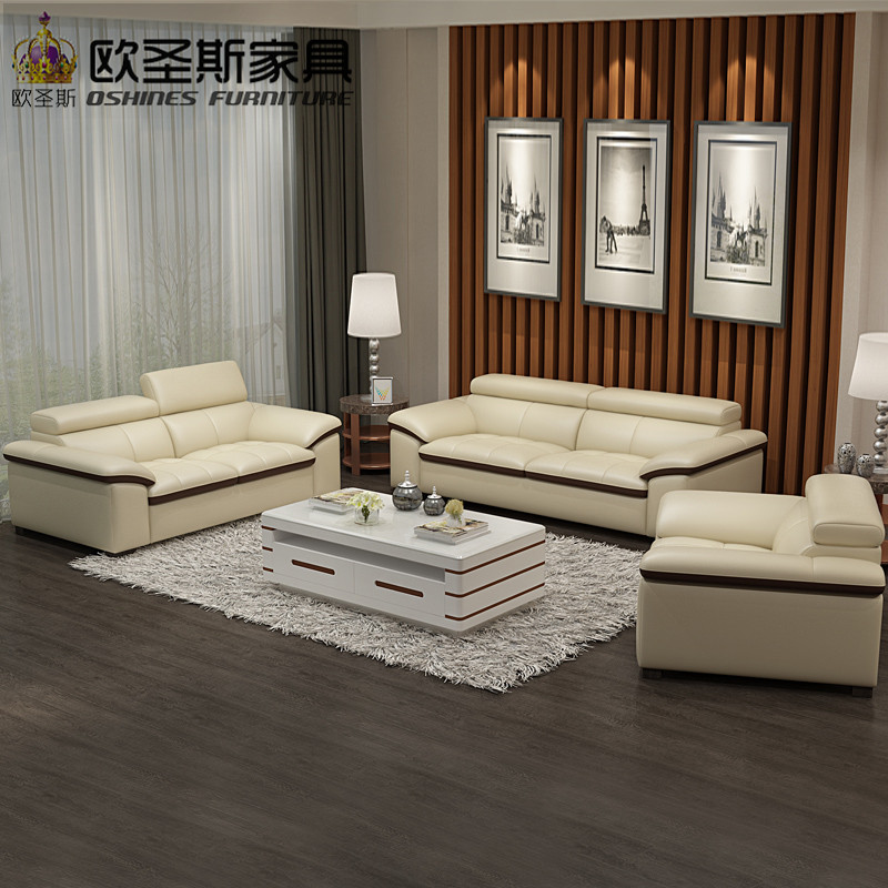 Cheap Genuine Leather Sectional Sofa: 2019 New Design Italy Modern Leather Sofa ,soft