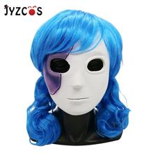 JYZCOS New Game Sally Face Mask Wig Sally Cosplay Latex Mask Halloween Party Costume for Adult Women Men цены онлайн