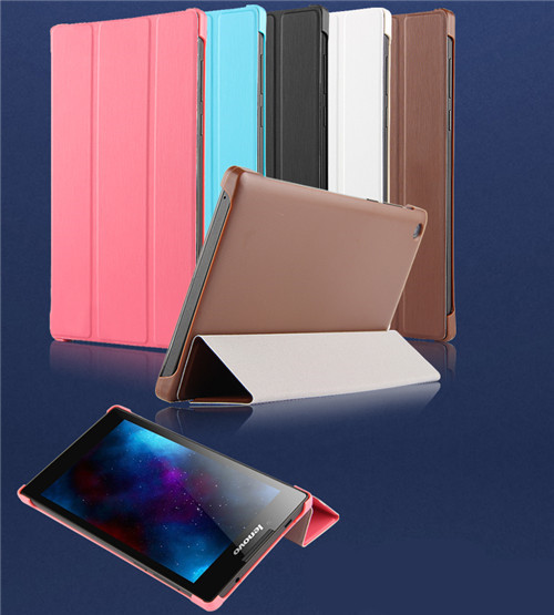 "SD  High quality Ultra-thin design Stand Flip PU Leather + PC Back Case cover for Lenovo Tab 2 A7-30 A7-30TC A7-30HC 7"" Tablet"