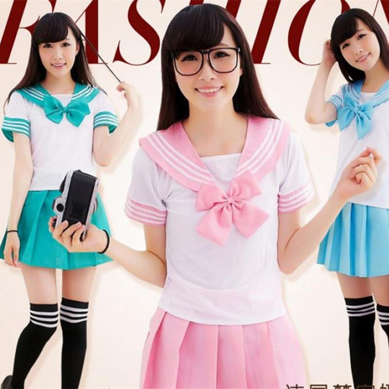 anime school girl costume plaid