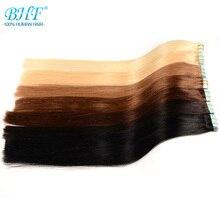 Bhf лента для наращивания человеческих волос с двойной нарисованной лентой для наращивания человеческих волос 20 шт Remy прямые волосы европейского типа все цвета