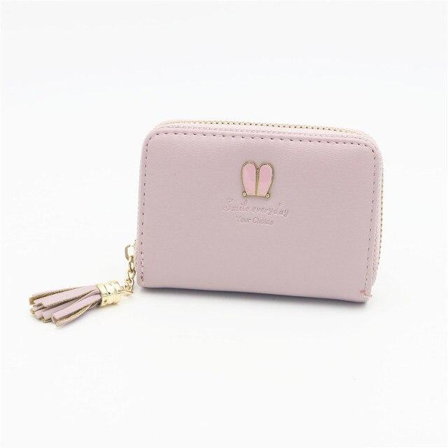 Women business card holder red pink black purple card wallet female women business card holder red pink black purple card wallet female zipper id card holder purse colourmoves