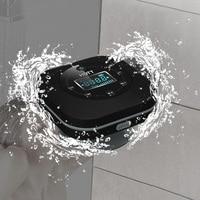 Portable Bathroom Waterproof FM Radio Bluetooth Speaker Wireless Speaker LCD Screen Stereo Music Surround HIFI Suction Speakers